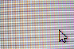 Mouse Cursor - arrow. An macro image of a mouse cursor (arrow Stock Image