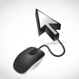 Mouse and cursor arrow illustration design Stock Photo