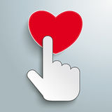 Mouse Cursor Click Hand Heart Stock Photos