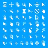 Mouse cursor icons set, simple style. Mouse cursor icons set. Simple illustration of 50 Mouse cursor vector icons for web Royalty Free Illustration