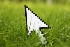 Mouse cursor, pointer. Mouse cursor or pointer, internet concept Stock Photography