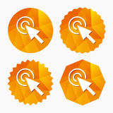 Mouse cursor sign icon. Pointer symbol. Royalty Free Stock Image