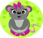 Mouse del bambino con i pattini svegli Fotografia Stock Libera da Diritti