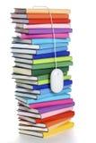 Mouse del calcolatore che pende dalla parte superiore del Rainbow-colorato di Fotografie Stock Libere da Diritti