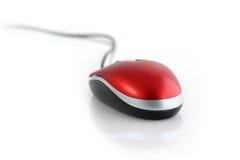 Mouse del calcolatore con la mano Immagini Stock Libere da Diritti