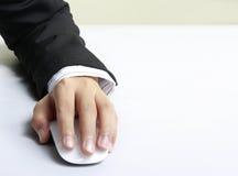 Mouse del calcolatore disponibile Fotografia Stock