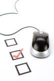 Mouse del calcolatore e del questionario fotografie stock libere da diritti