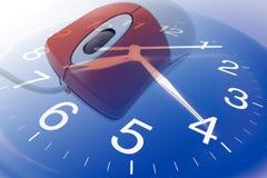 Mouse del calcolatore e dell'orologio fotografia stock libera da diritti