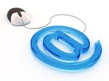 Mouse del calcolatore ed email di simbolo Fotografia Stock