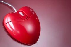 Mouse del cuore Immagine Stock