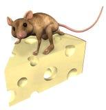 Mouse del formaggio Fotografia Stock