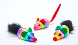 Mouse del giocattolo dei gatti Fotografie Stock Libere da Diritti
