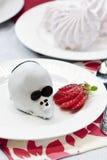 Mouse della torta di cioccolato immagini stock libere da diritti
