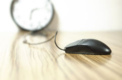 Mouse on a Desk Royalty Free Stock Photography