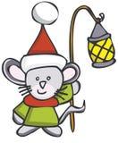 Mouse di natale Fotografia Stock Libera da Diritti