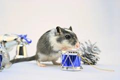 Mouse di nuovo anno Immagini Stock Libere da Diritti