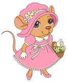 Mouse in dress Stock Photos