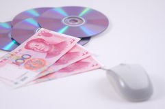 Mouse dvd and rmb Stock Photos