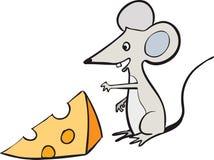 Mouse e formaggio Fotografia Stock Libera da Diritti