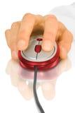 Mouse e mano del calcolatore Immagine Stock