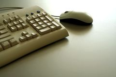Mouse e tastiera immagini stock libere da diritti