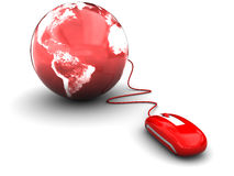 Mouse and earth Royalty Free Stock Photo