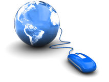 Mouse and earth Royalty Free Stock Image