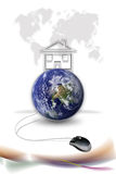 Mouse and earth Royalty Free Stock Photos
