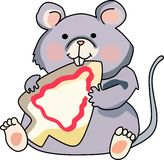 MOUSE EATING COOKIE Royalty Free Stock Photography