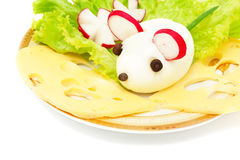 Mouse egg at breakfast Stock Images
