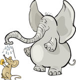 Mouse and elephant Royalty Free Stock Images