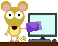 Mouse email Royalty Free Stock Photography