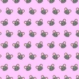Mouse - emoji pattern 43. Pattern of a emoji mouse that can be used as a background, texture, prints or something else vector illustration