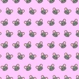 Mouse - emoji pattern 44. Pattern of a emoji mouse that can be used as a background, texture, prints or something else royalty free illustration
