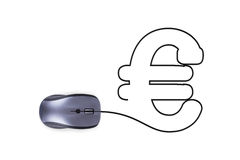 Mouse with Euro Sign Stock Images