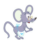 Mouse_with_eyeglasses Royalty Free Stock Images
