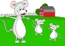 Mouse family cartoon Stock Images