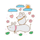 Mouse fat cute Stock Photo