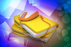 Mouse with file folder Royalty Free Stock Images