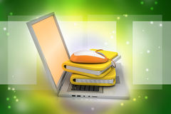 Mouse with file folder Royalty Free Stock Photography