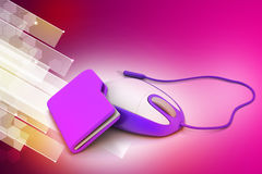 Mouse with file folder Stock Photography