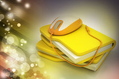 Mouse with file folder Stock Photo