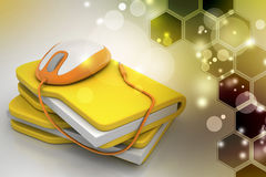 Mouse with file folder. In color background Stock Image