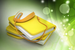 Mouse with file folder Royalty Free Stock Image