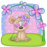 Mouse with flowers Stock Image