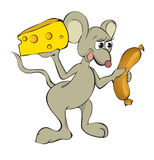 Mouse and food Royalty Free Stock Image