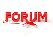 Mouse and Forum Royalty Free Stock Images