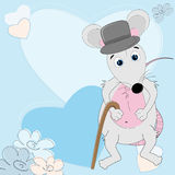 Mouse gentleman Royalty Free Stock Photography