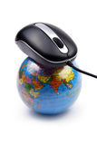 Mouse and globe Royalty Free Stock Image
