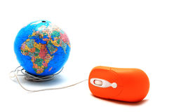 mouse and Globe, global Communication, inter Stock Photography